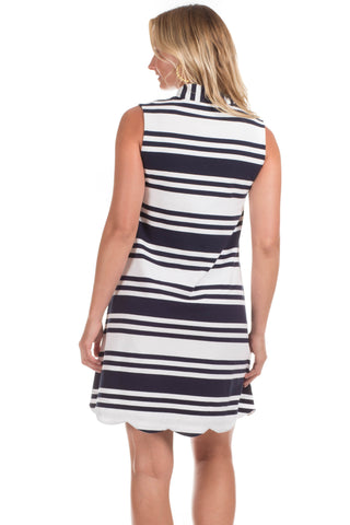 Scallop Kingston in Navy Stripes