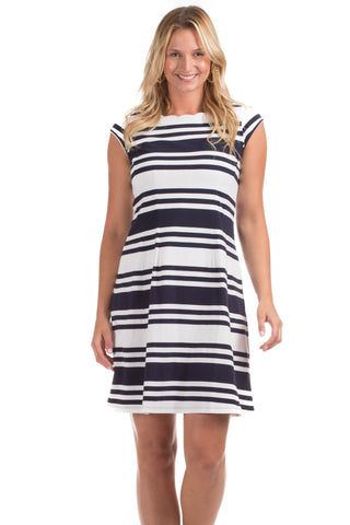 Darby Dress in Navy