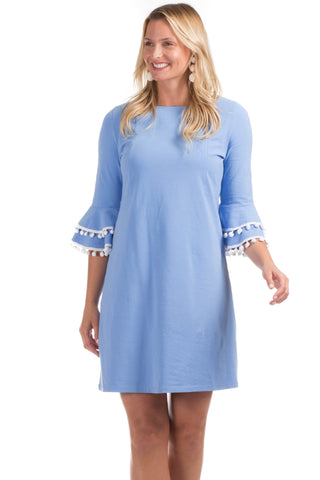 Mayfield Dress in Blue Seersucker