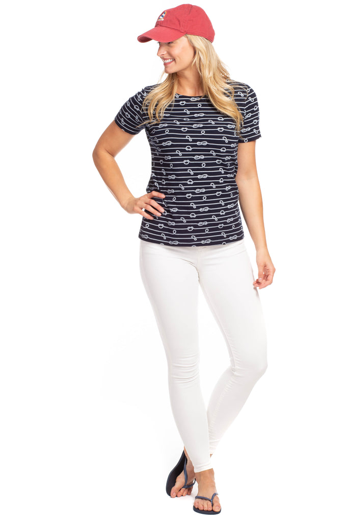 Sandy Tee in Navy Rope