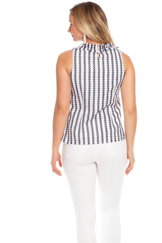 Rennie Top in Stripe Eyelet