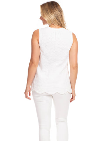Eyelet Harper Top In White