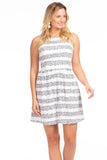 Manistee Dress in Navy Dot