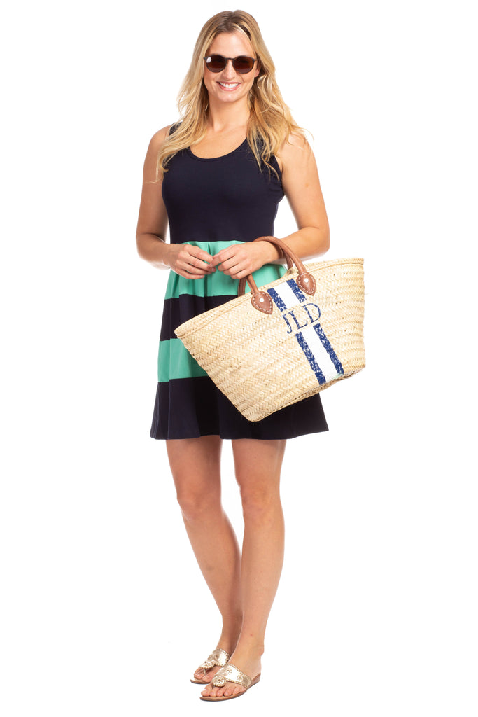 Ludington Dress in Navy with Julep