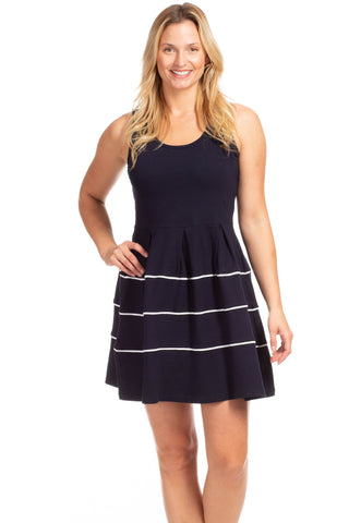 Girls Lenora Dress in Navy