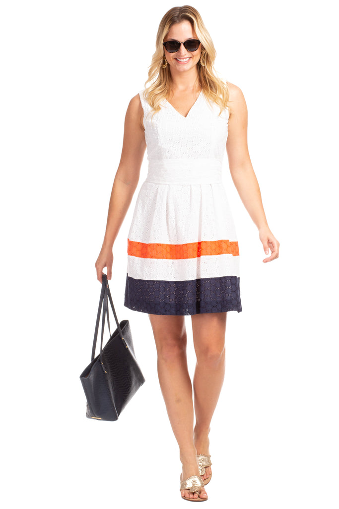 Clearwater Dress in White Eyelet