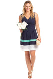 Clearwater Dress in Navy Eyelet