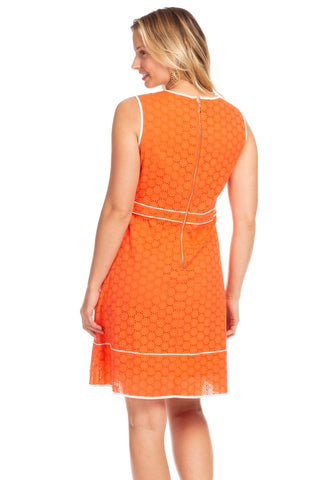 Holloway Dress in Poppy Eyelet