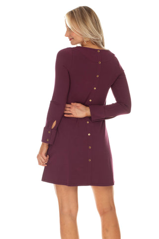 Davis Dress in Wine