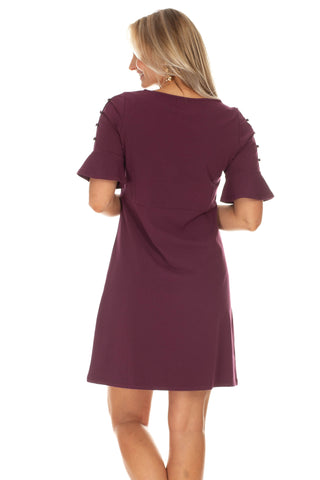Rebecca Dress in Wine