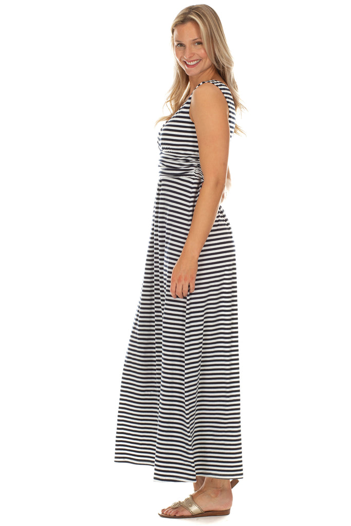 Monterey Maxi in Navy Stripes