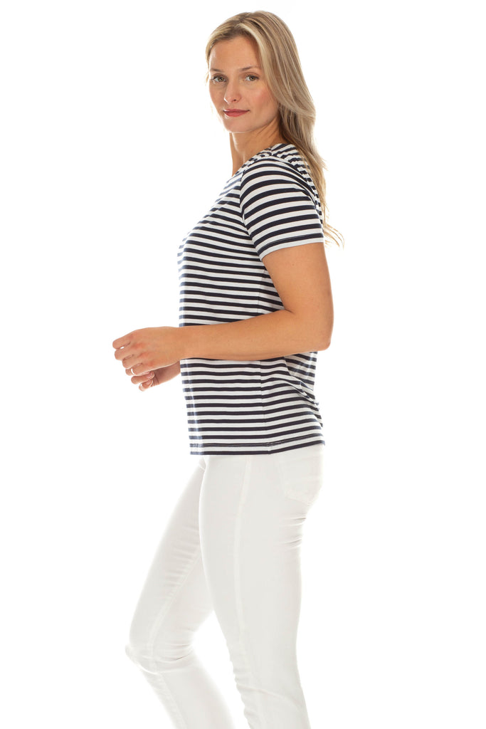 Sandy Tee in Navy Stripe