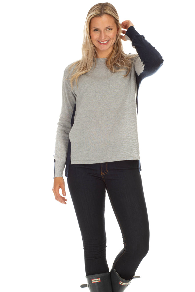 Morgan Sweater in Grey and Navy
