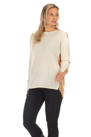 Juliet Fleece Turtleneck in Camel