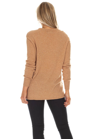 Morgan Sweater in Marshmallow and Camel