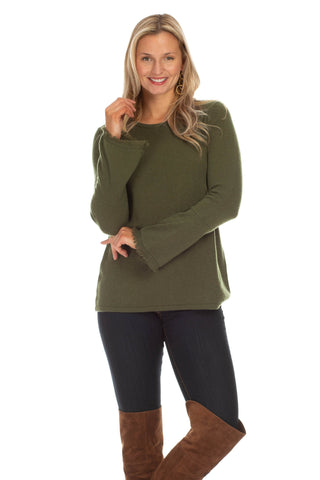 Collier Top in Olive
