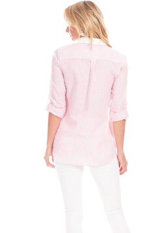 Pointe Tunic in Pink Seersucker