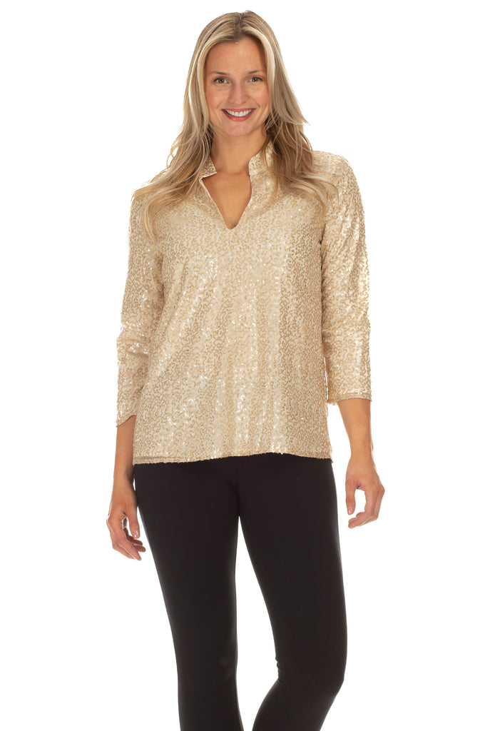 Claudia Tunic in Gold Sequin