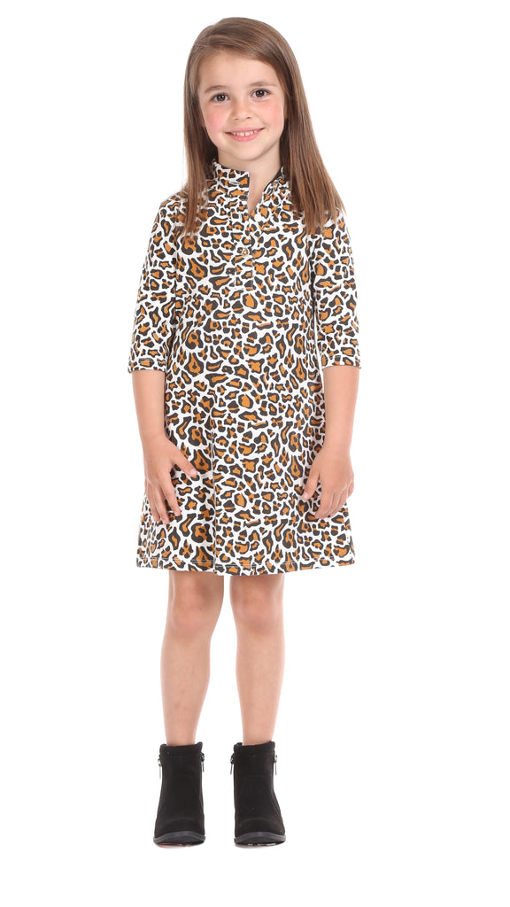 Girls Kingsley Dress in Leopard