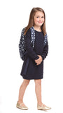 Girls Radcliff Dress in Navy