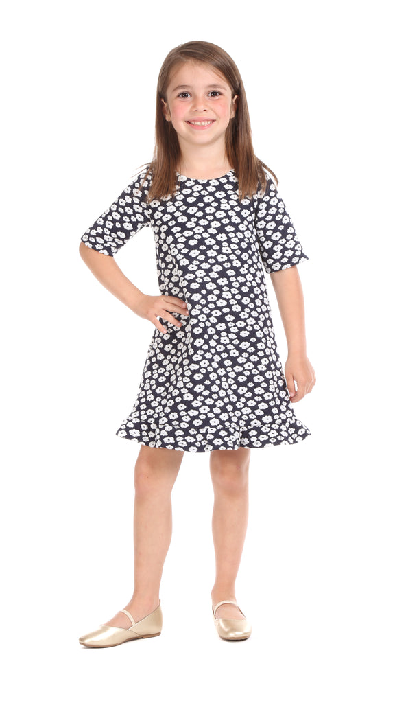 Girls Mitchell Dress in Boucle