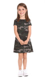 Girls Amber Dress in Camo