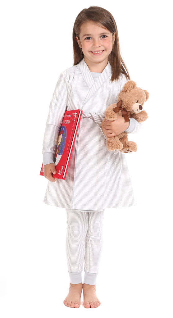 Girls Rye Set + Barron Robe in Grey