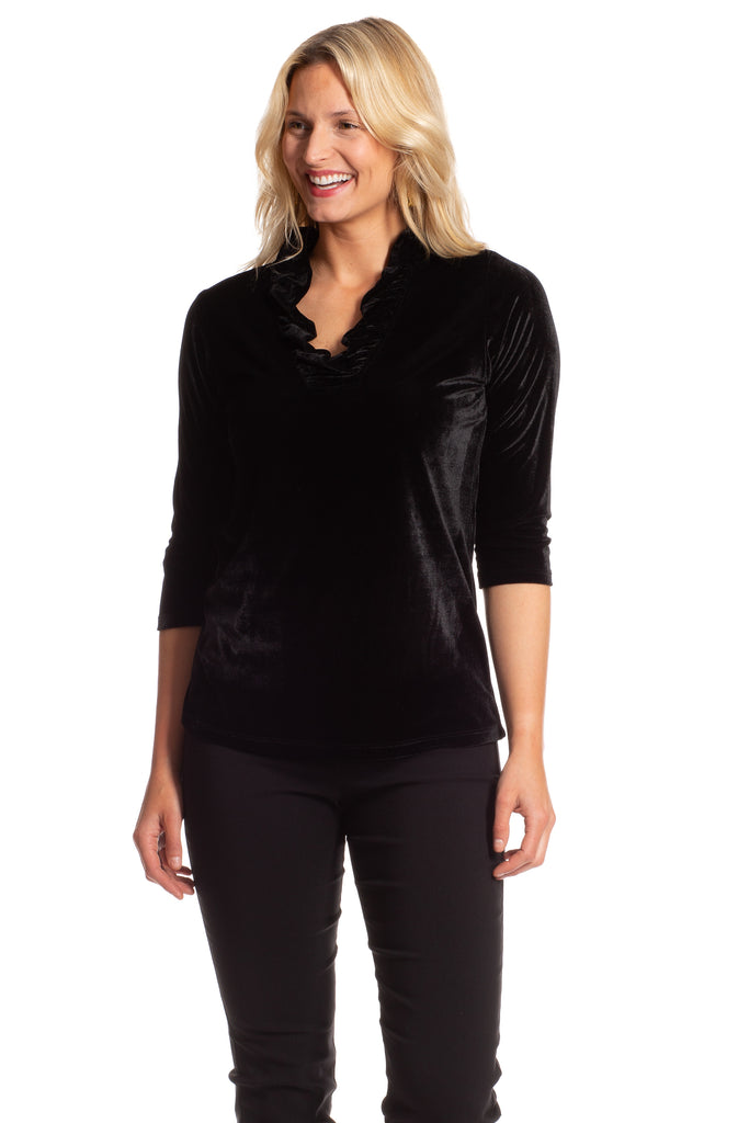 Rockford Ruffle Tunic in Velvet