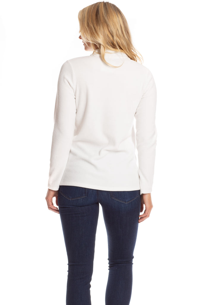 Cora Fleece Pullover in Marshmallow