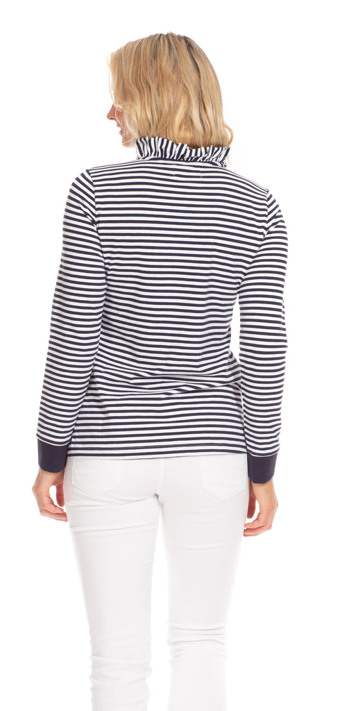 Piper Pullover in Navy & White Stripe