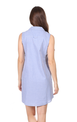 Lauren Dress in Royal Blue Stripe