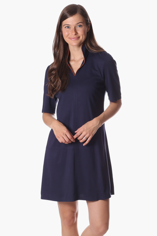 Lennon Dress in Navy