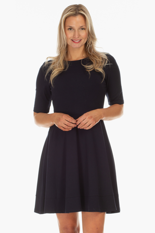 Lenora Dress in Navy