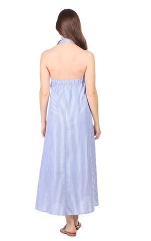 Marjorie Maxi in Royal Blue Stripe