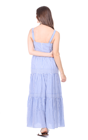 Mel Maxi in Royal Blue Stripe