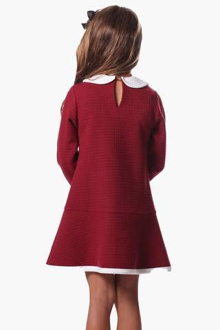 Girls Merritt Dress in Red Star