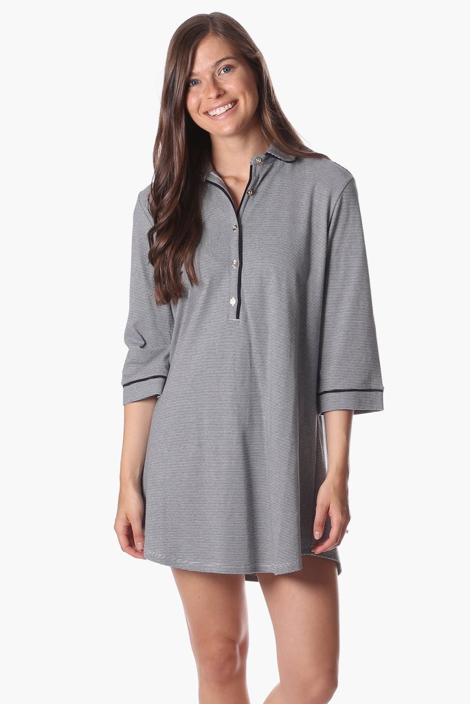 Milton Sleep Shirt in Navy