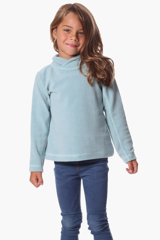Girls Naomi Fleece Pullover in Ether