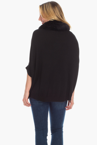 Payton Poncho in Black