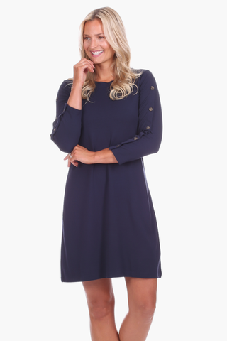 Pippa Dress in Navy