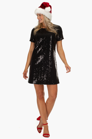 Potter Dress in Black Sequin