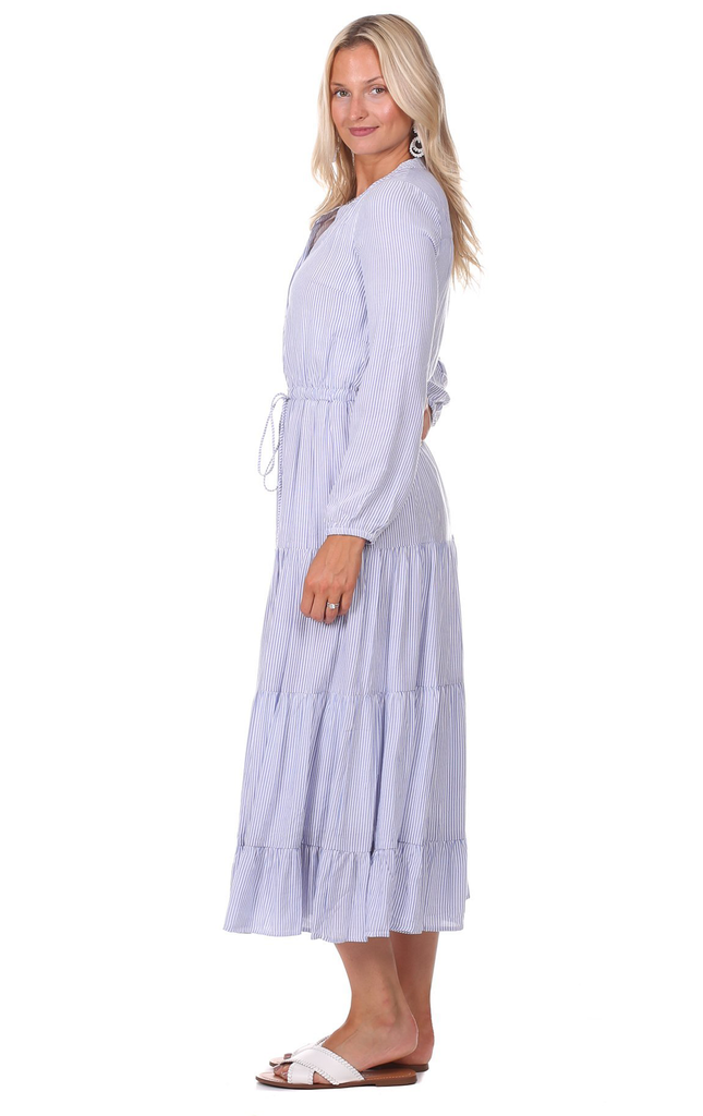 Remy Dress in Blue Stripe