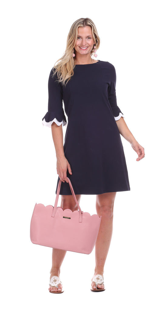 Rosewood Dress in Navy