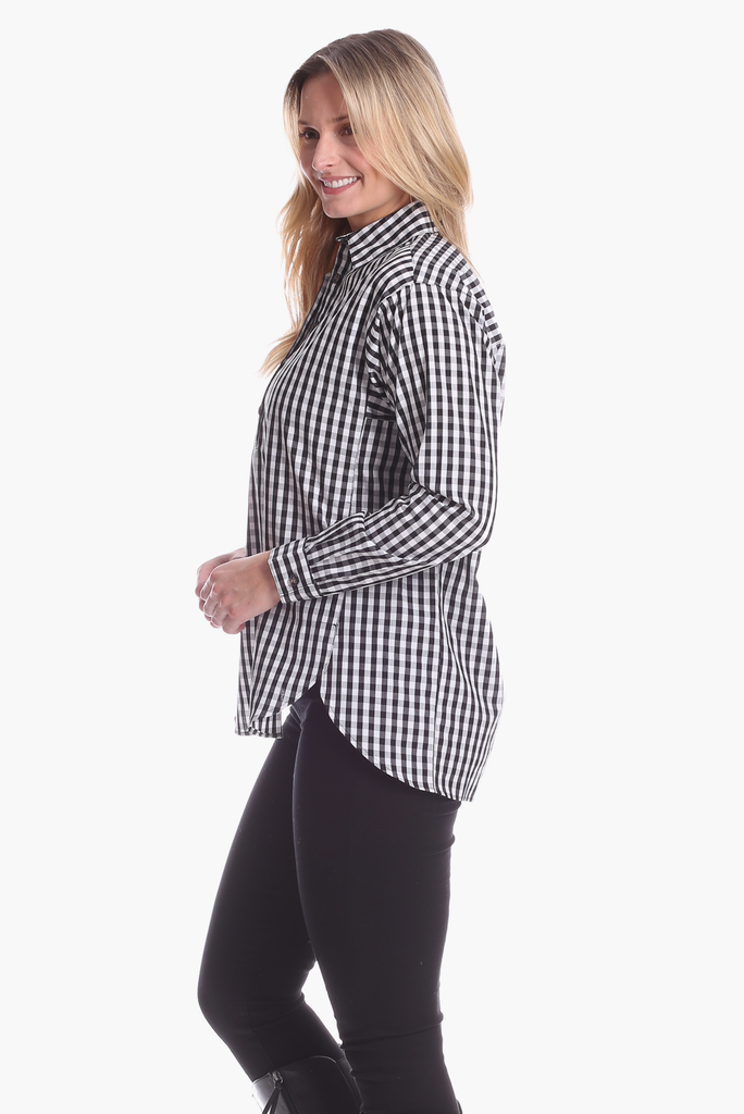 Savannah Tunic in Black Gingham