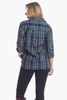 Savannah Tunic in Navy & Green Plaid