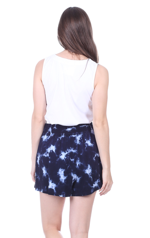Shelly Shorts in Navy Tie Dye