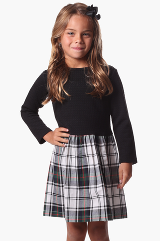 Girls Sullivan Dress in Navy
