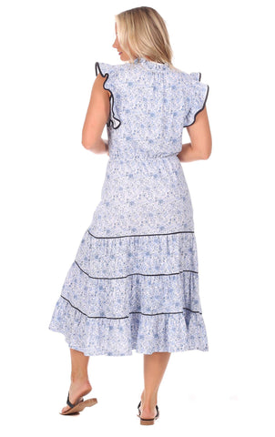 Tia Dress in Blooming Blue