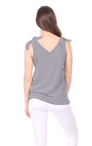 Tyler Tank in Thin Navy Stripe