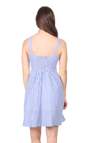 Willa Dress in Royal Blue Stripe
